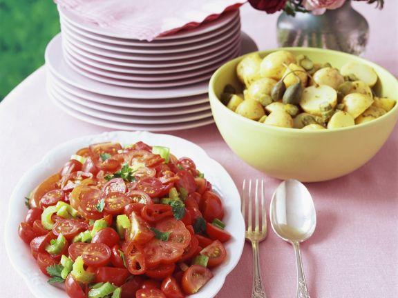 Kartoffeln und Kapern