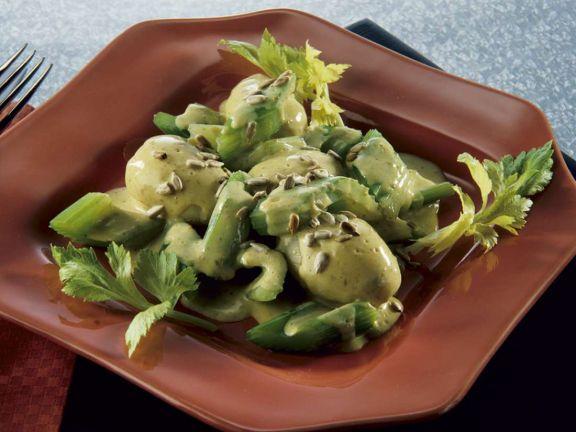 Kartoffeln und Sellerie mit Buttersauce