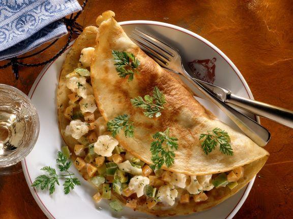 Kartoffelpfannkuchen mit Gemüsefüllung