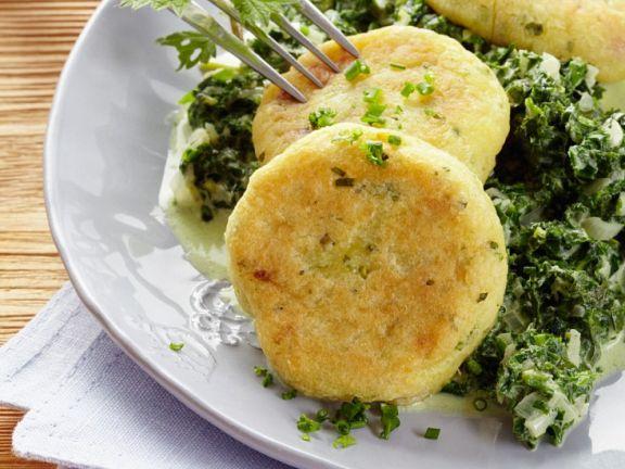 Kartoffelplätzchen mit Kräutern