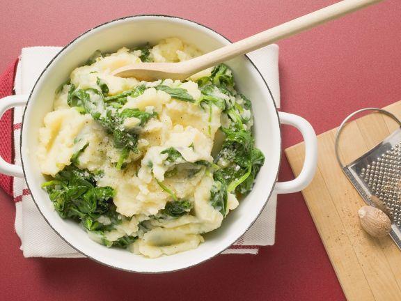kartoffeln mit spinat abnehmen