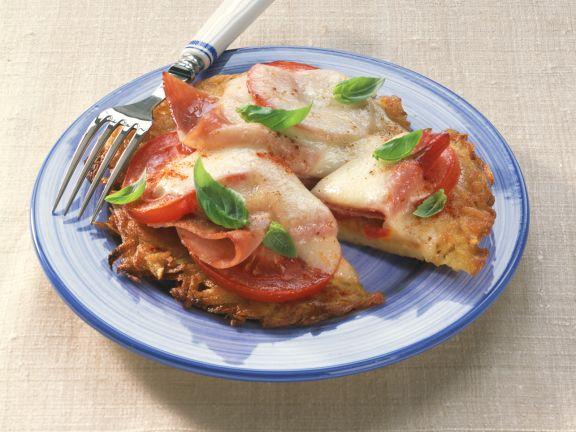 Kartoffelpuffer-Pizza
