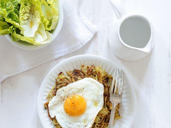 Kartoffelrösti mit Ei