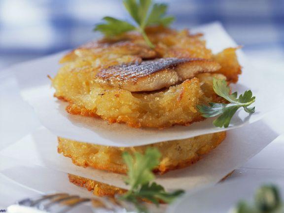 Kartoffelrösti mit Matjes