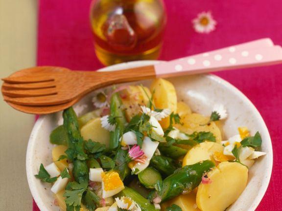 Kartoffelsalat mit Ei und Spargel