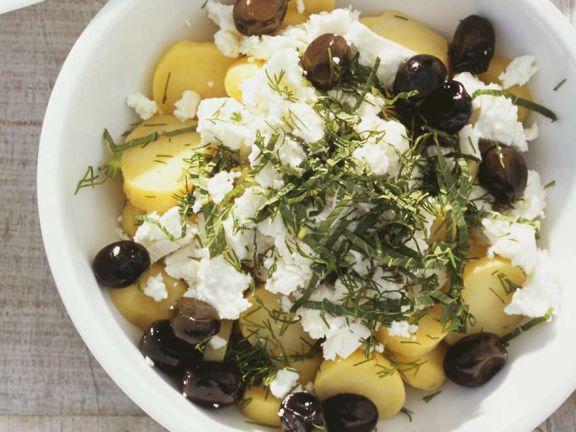 Kartoffelsalat mit Feta