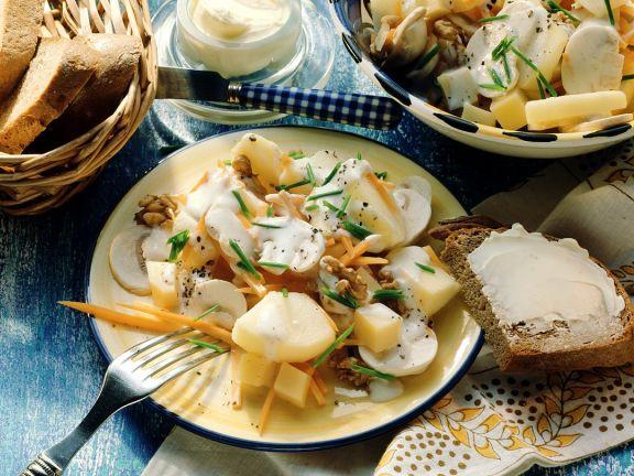 Kartoffelsalat mit Käse