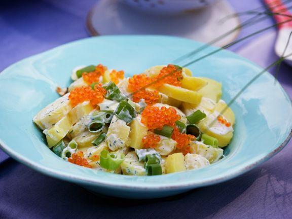Kartoffelsalat mit Kaviar