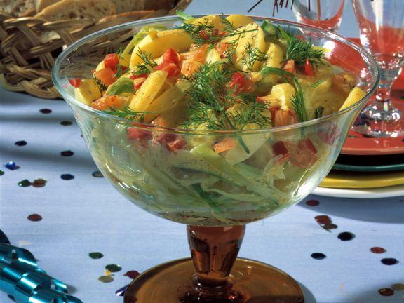 Kartoffelsalat mit Lachs-Vinaigrette