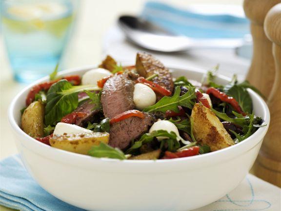 Kartoffelsalat mit Lammfleisch