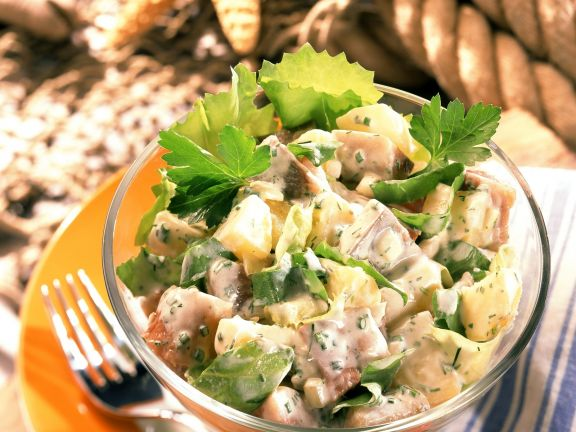 Kartoffelsalat mit Matjes