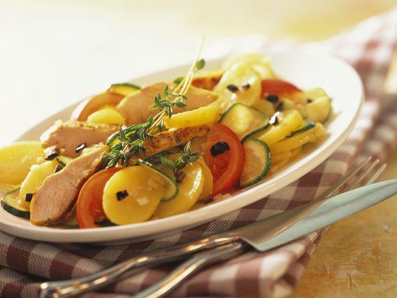 Kartoffelsalat mit Pute