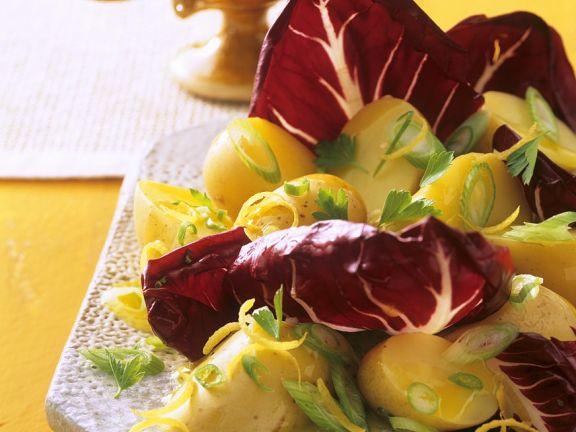 Kartoffelsalat mit Radicchio