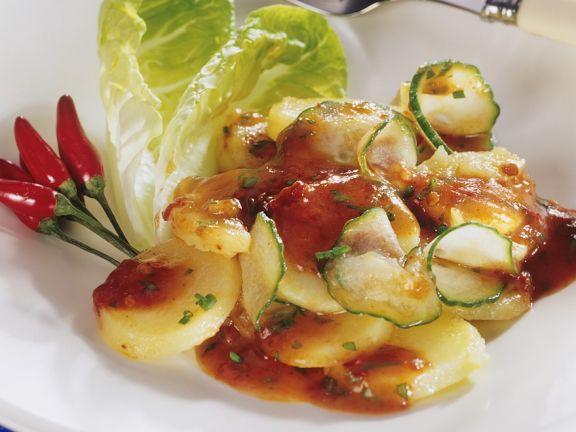 Kartoffelsalat mit Zucchini