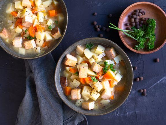 Kartoffelsuppe mit Tofu