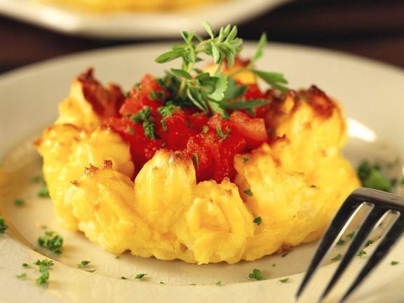 Kartoffeltörtchen mit Tomaten