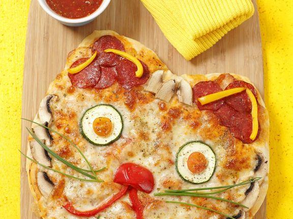Katzen-Pizza für Kinder
