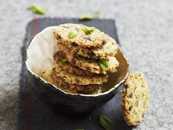 Kekse nach französischer Art mit Schokolade
