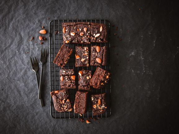 Kichererbsen-Brownies mit Mandeln