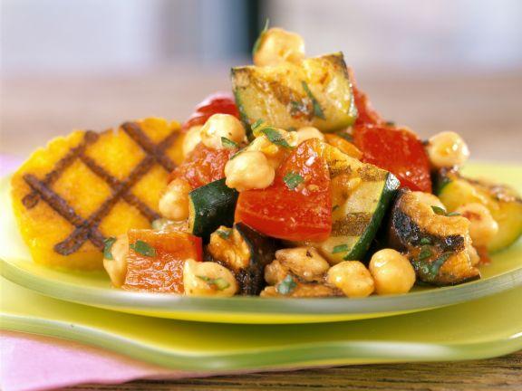 Kichererbsen-Gemüse mit Polenta