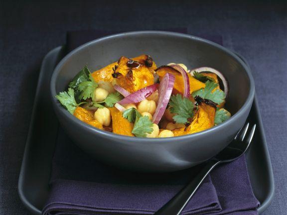 Kichererbsen-Kürbis-Gemüse