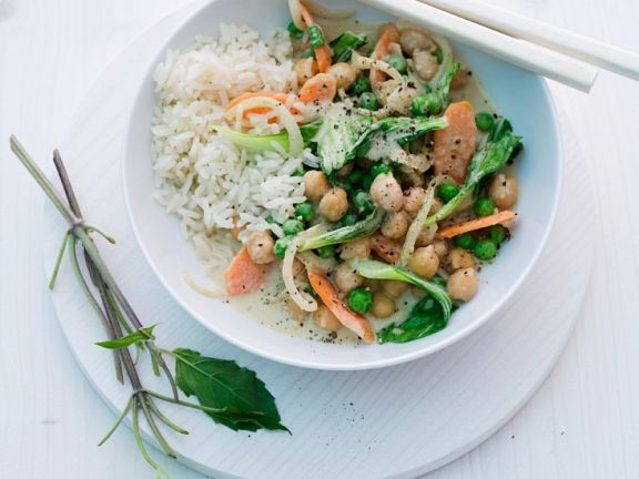 Kichererbsencurry mit Reis
