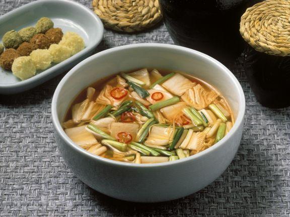 Kimchisuppe auf koreanische Art