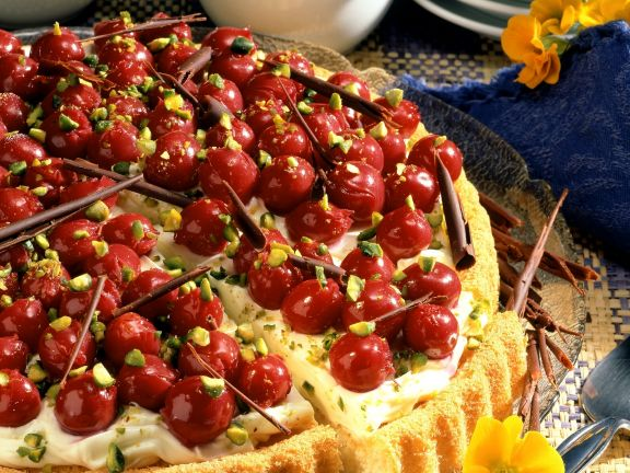 Kirschkuchen mit Mascarponecreme