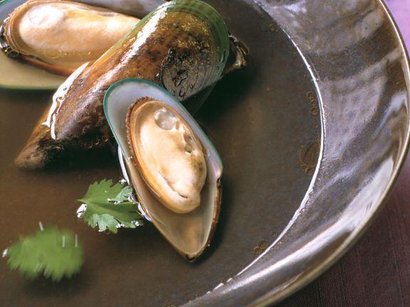 Klare Fischsuppe mit Miesmuscheln