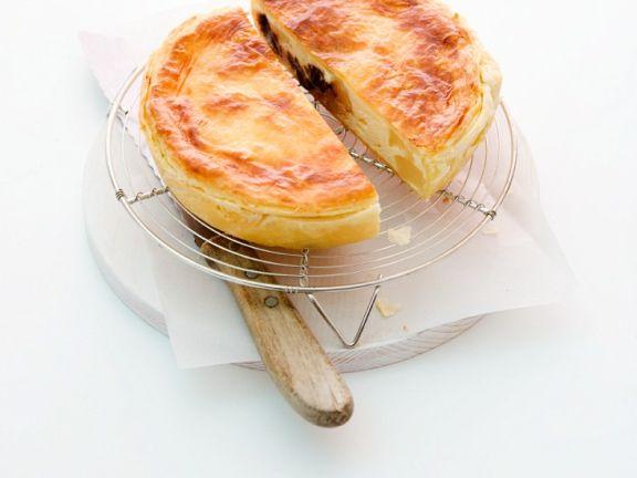 Kleine Birnen-Blätterteig-Kuchen