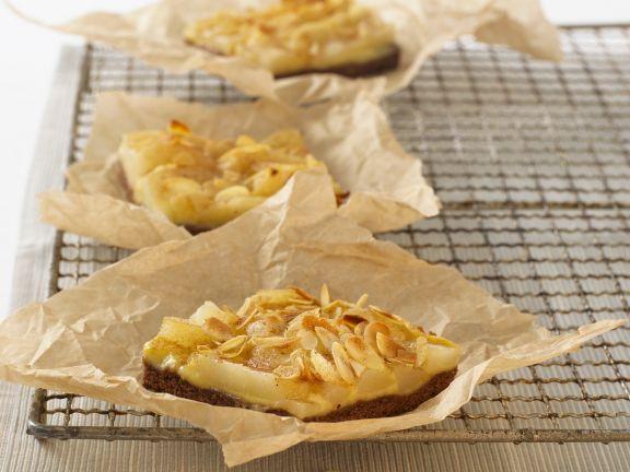 Kleine Birnen-Mandel-Kuchen