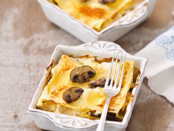 Kleine Champigon-Lasagne