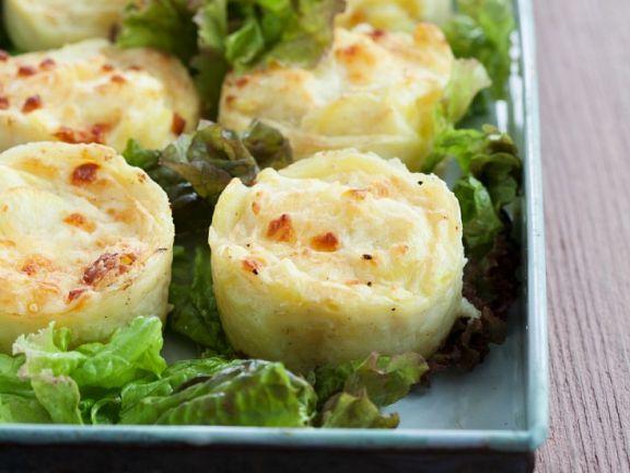 Kleine Kartoffelgratins
