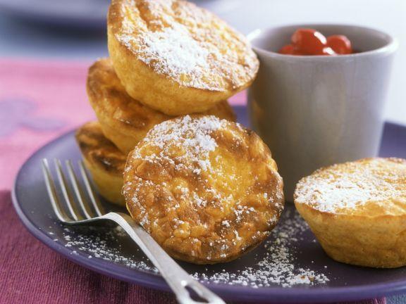 Kleine Safran-Reisgratins mit Cranberrykompott