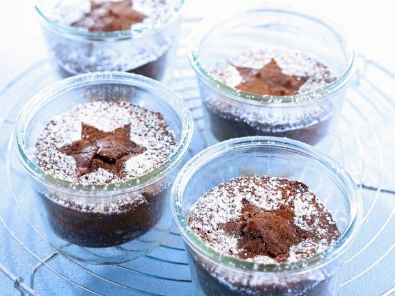 Kleine Schoko-Nuss-Kuchen