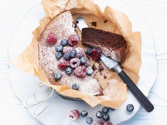 Kleiner Schoko-Nuss-Kuchen