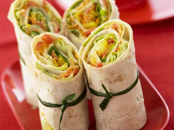 Knackige Gemüse-Wraps