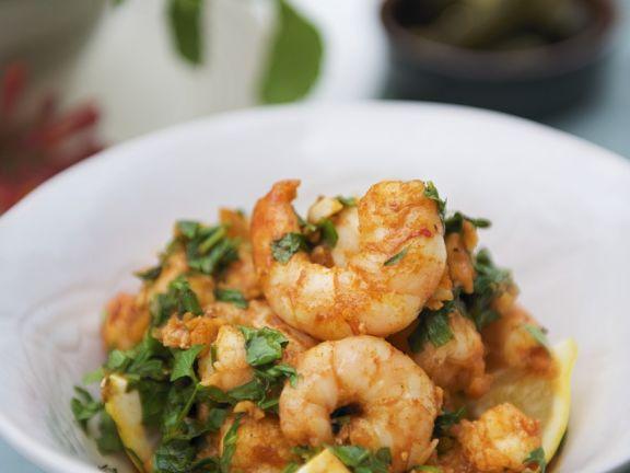 Knoblauch-Shrimps