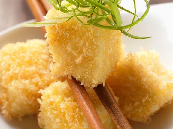 Knusprig frittierte Tofuwürfel