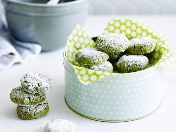Knusprige Matcha-Kekse