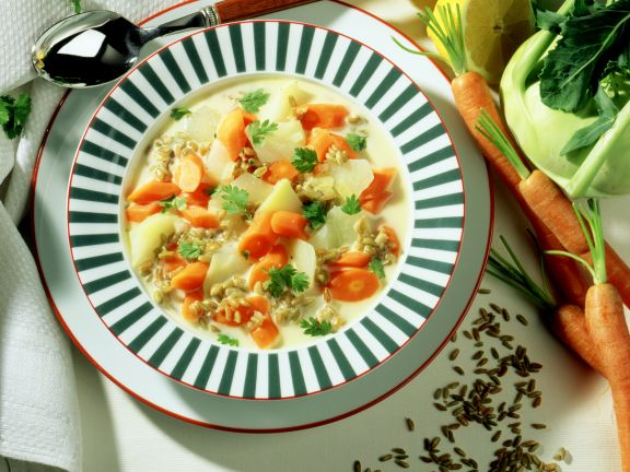 Kohlrabi-Möhren-Suppe
