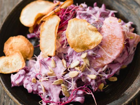 Kohlsalat mit Topinambur