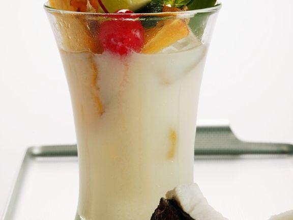 Kokos-Frucht-Cocktail