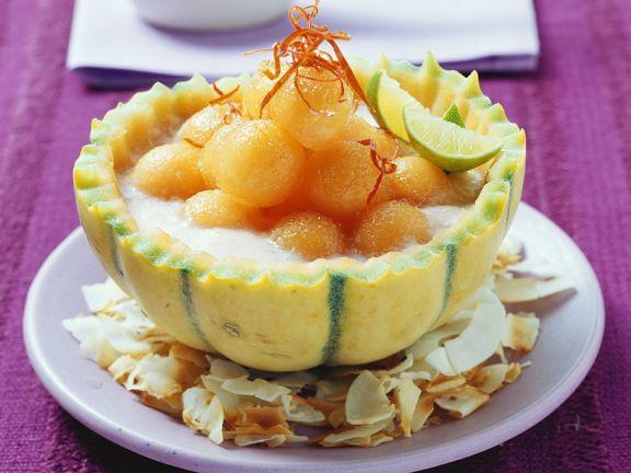 Kokos-Melonen-Suppe