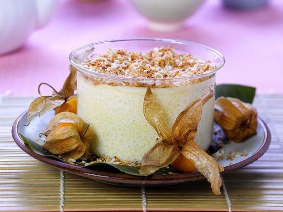 Kokos-Reispudding mit Physalis