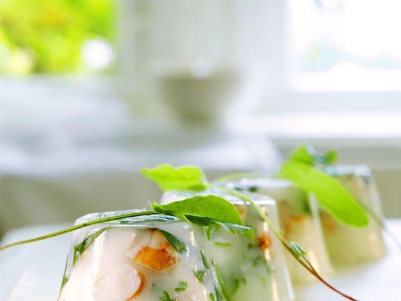 Kokos-Terrrine mit Meeresfrüchten
