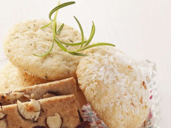 Kokos- und Rosmarinplätzchen
