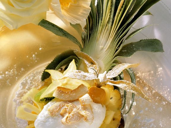 Kokoscreme mit Ananas