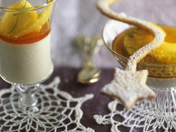 Kokosmousse mit Ananas-Ingwer-Soße