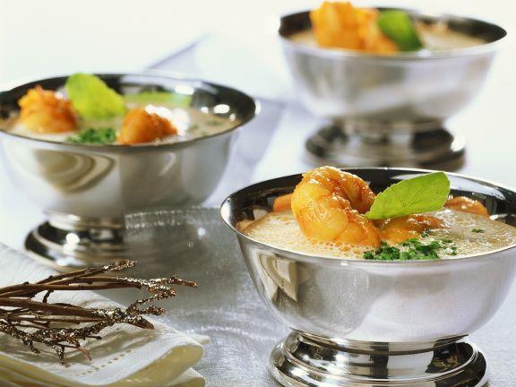 Kokossuppe mit Kaisergranat